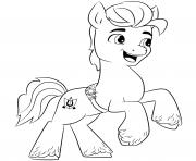 Coloriage my little poney 2 dessin