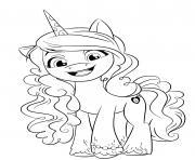 Coloriage poney club dessin
