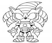 fusion sonic iron man dessin à colorier