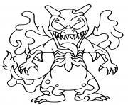 fusion venom charizard pokemon dessin à colorier