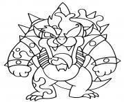 fusion venom bowser mario dessin à colorier