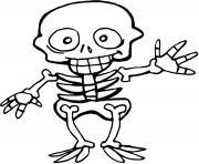 squelette enfant halloween dessin à colorier
