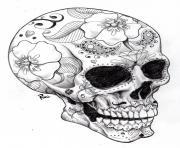 adulte halloween squelette 2 dessin à colorier