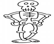 squelette halloween dessin à colorier