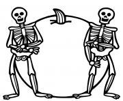 halloween squelette dessin à colorier