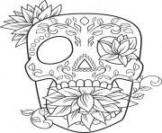 adulte tete squelette antistress dessin à colorier