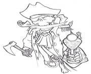 squelette pirate dessin à colorier