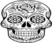squelette halloween 1 dessin à colorier