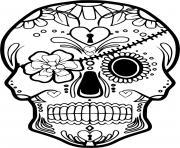 squelette halloween pirate dessin à colorier