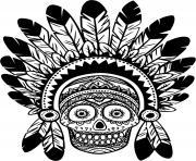 squelette halloween sucre indien dessin à colorier