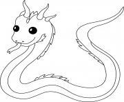 basilic bete legendaire reptile petit serpent au venin mortel dessin à colorier