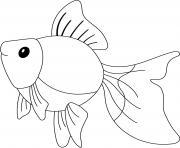 goldfish est un poisson rouge dessin à colorier