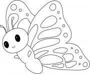 papillon facile maternelle dessin à colorier