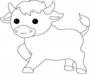 boeuf bovin dessin à colorier