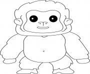 gorille singe de la famille des hominides dessin à colorier