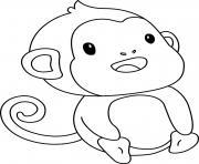 singe animal sauvage dessin à colorier