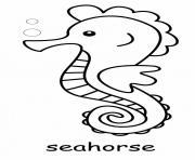 Hippocampes poisson marin dessin à colorier