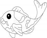 poisson carpe koi dessin à colorier