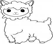 lama glama dessin à colorier