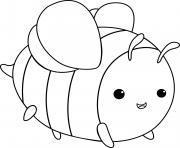 grosse abeille dessin à colorier