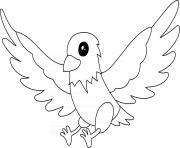 aigle oiseau dessin à colorier
