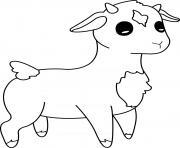 agneau animal de la ferme dessin à colorier