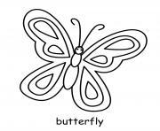 papillon insecte dessin à colorier