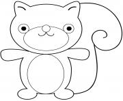 ecureuil cartoon squirrel dessin à colorier