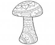 champignon mandala dessin à colorier