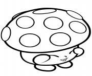 champignon shopkins dessin à colorier