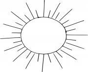 soleil etoile proche de la terre dessin à colorier