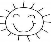 soleil style amateur simple facile dessin à colorier