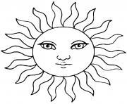 soleil circle du soleil dessin à colorier