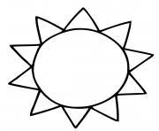 soleil facile maternelle dessin à colorier