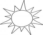 soleil facile dessin à colorier
