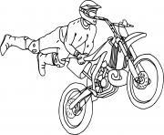 moto cross de style libre dessin à colorier