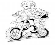 moto cross enfant dessin à colorier