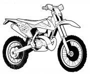 moto cross tout terrain enduro dessin à colorier