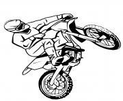 moto cross bike dessin à colorier