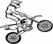 moto cross sport dessin à colorier