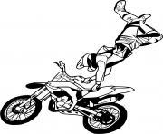 saut backflip motocross dessin à colorier