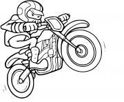 moto cross jump dessin à colorier