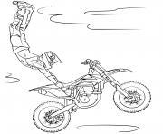 moto cross motorcycles grand saut dessin à colorier