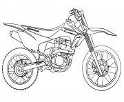 moto cross tout terrain honda dessin à colorier