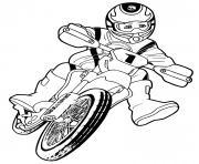 moto cross bike kids dessin à colorier
