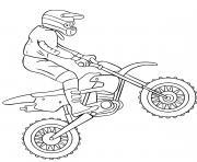 motocross dirt bike dessin à colorier
