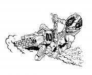 motocross drift kawasaki dessin à colorier
