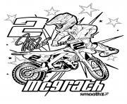 motocross yamaha dessin à colorier