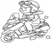 Coloriage moto facile 46 dessin
