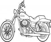 moto harley davidson moteur pan america dessin à colorier